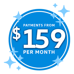 Payments From $159 Per Month