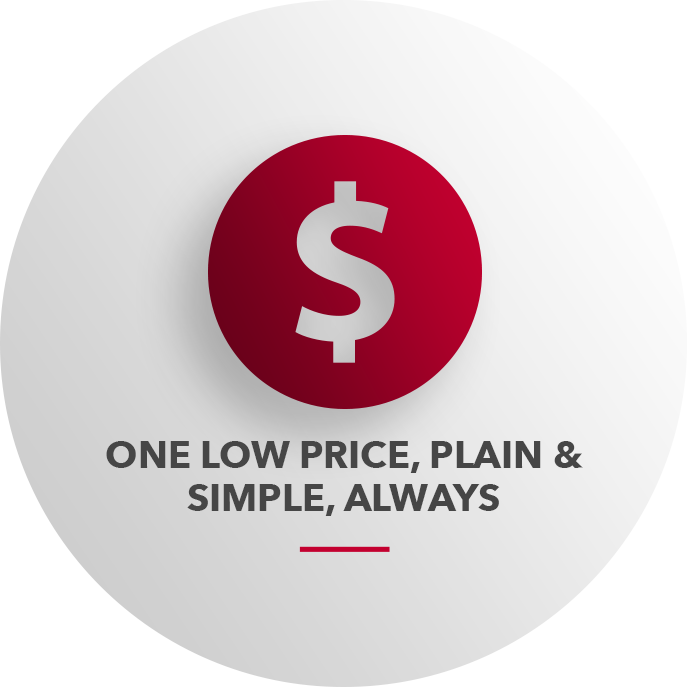 One Low Price, Plain & Simple, Always