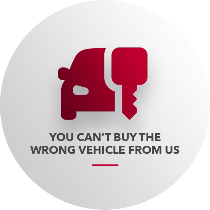 You Can't Buy The Wrong Vehicle From Us