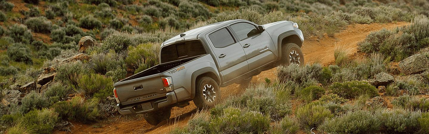 Toyota Tacoma going uphill