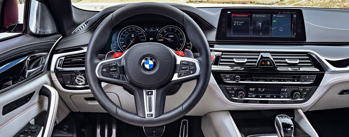 Safety features and interior of the BMW M5 - available at Vista BMW Coconut Creek near Boca Raton and Coral Springs