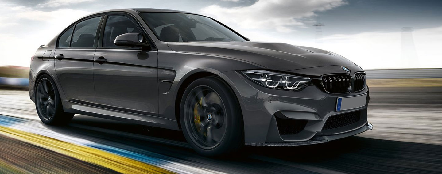 Front Right of BMW M3 on a race track