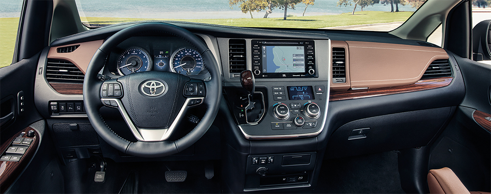 Safety features and interior of the 2019 Toyota Sienna - available at our Toyota dealership near Gainesville and High Springs, FL