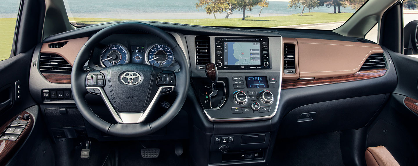 Pictures of interior of the 2019 Toyota Sienna – for sale at our Toyota dealership in Lake city.