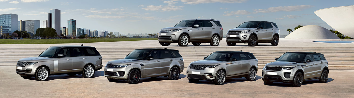 Land Rover line up