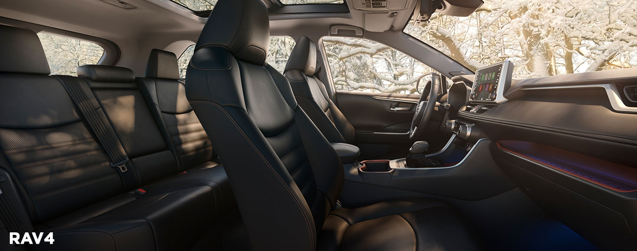 Safety features and interior of the 2019 Toyota RAV4 - available at our Toyota dealership in Columbus, GA