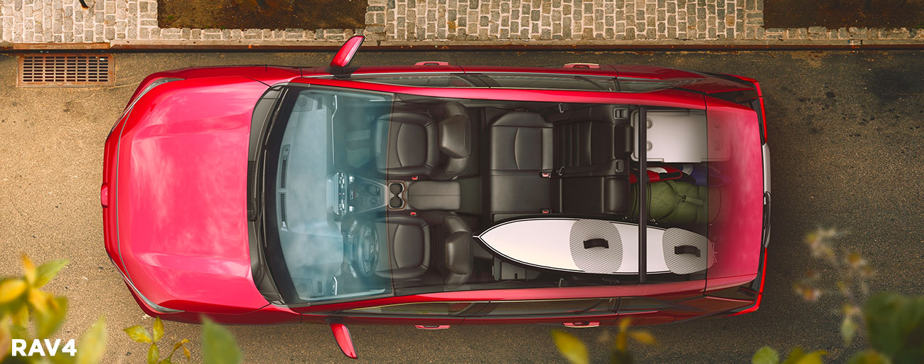 2019 Toyota RAV4 top down view