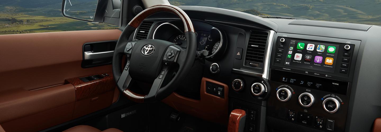 Interior of the 2020 Toyota Sequoia