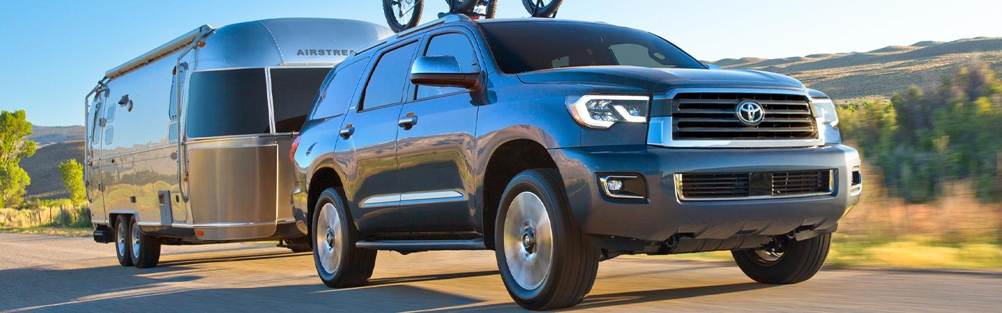 2020 Toyota Sequoia towing an RV