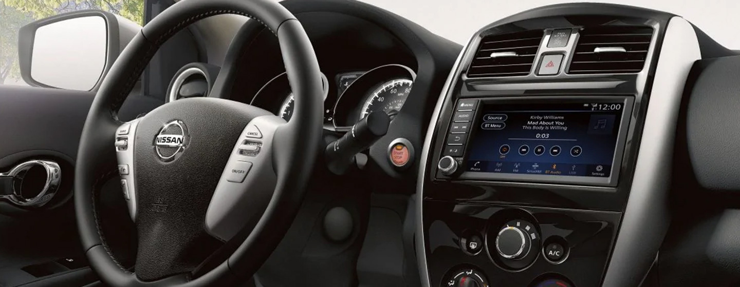 Safety features and interior of the 2019 Nissan Versa - available at our Nissan dealership near Cottonwood, AZ.