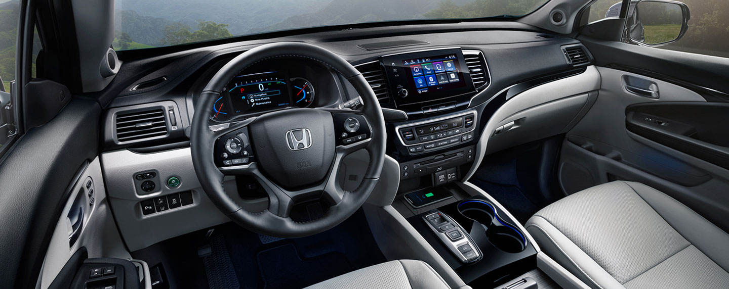 Safety features and interior of the 2019 Honda pilot for sale at our Honda dealership in Lake City