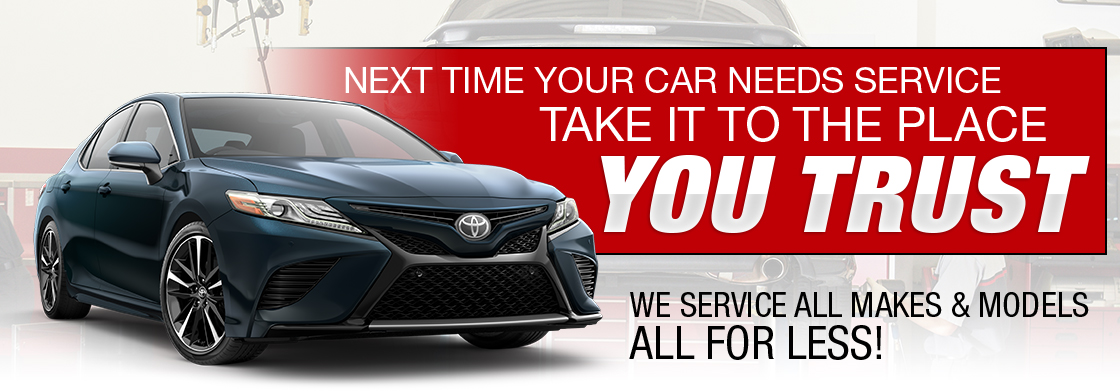 Next Time Your Car Needs Service Take It To The Place You Trust - Toyota of Tampa Bay in Tampa, FL