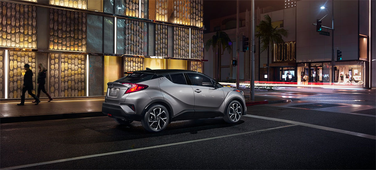2019 Toyota C-HR Exterior - Parked at a light at night.