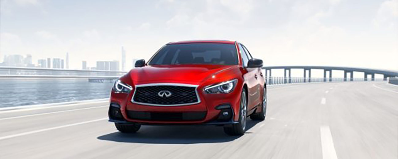 2019 INFINITI Q50 Exterior Front - Driving on the Road