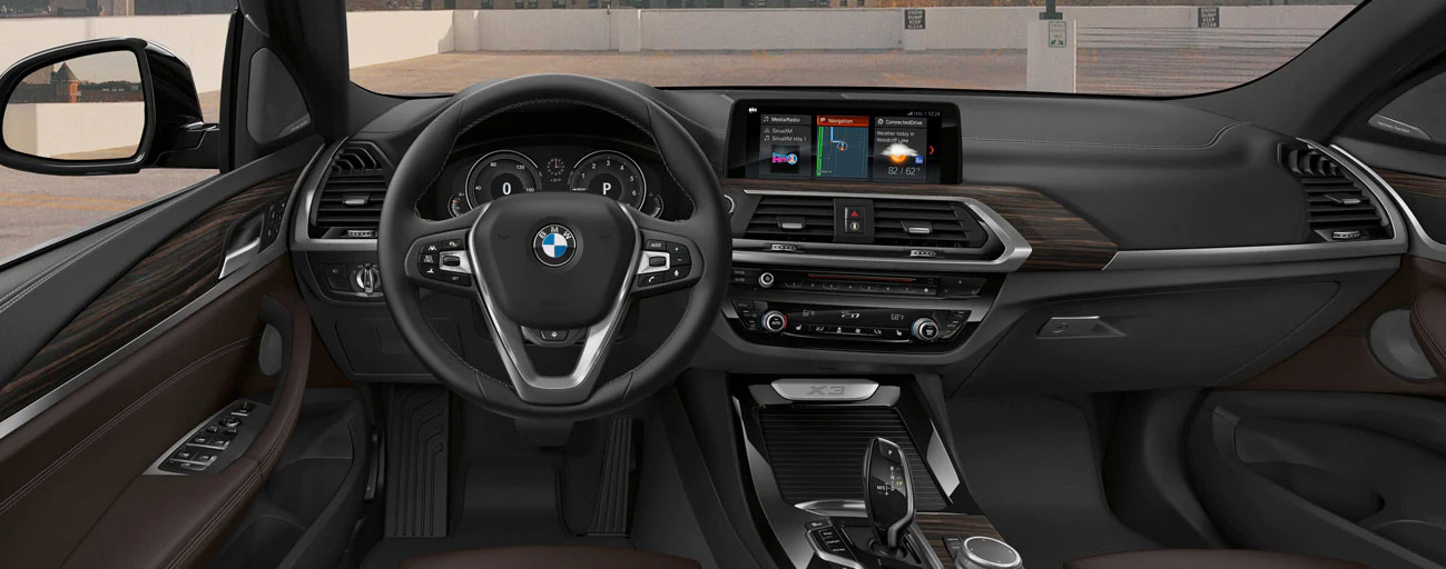 Safety features and interior of the 2019 BMW X3 - available at our BMW dealership near Fort Lauderdale, FL.