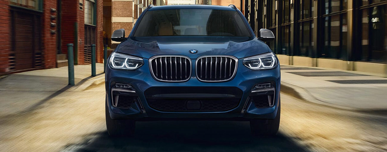 2019 BMW X3 Exterior Front End - Driving on the road.