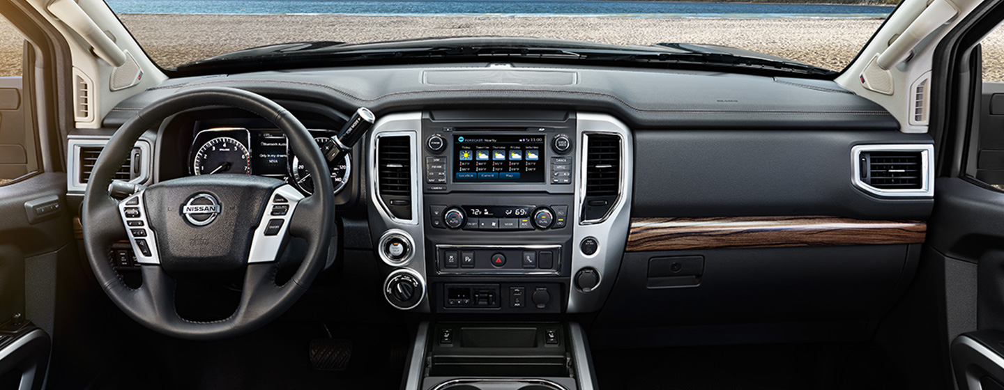 Safety features and interior of the 2019 Nissan Titan - available at our Nissan dealership near Oklahoma City, OK.