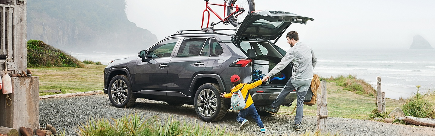 2020 Toyota RAV4 with the trunk open