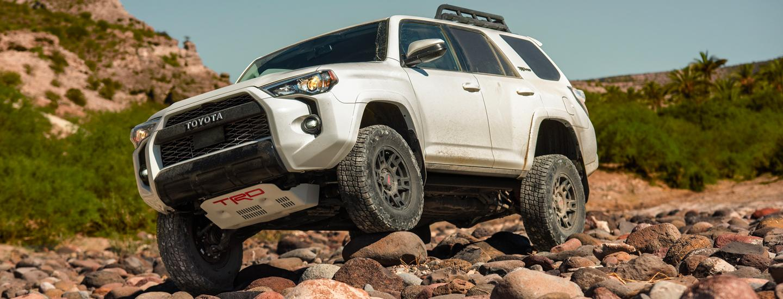 2020 Toyota 4Runner driving on rugged terrain