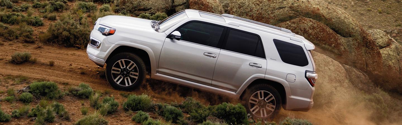 2020 Toyota 4Runner driving up a dirt road