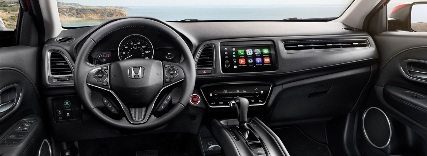 Safety features and interior of the 2019 Honda HR-V - available at our Honda dealership near Cape Coral, FL.