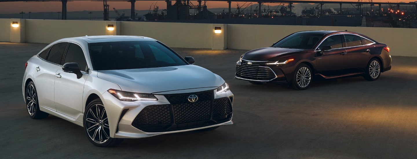 Two 2020 Toyota Avalon vehicles parked next to each other