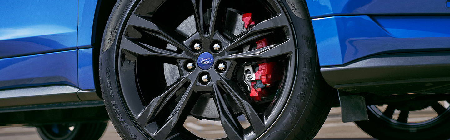 Close up of the 2019 Ford Edge's wheel, in Wilkes-Barre, PA