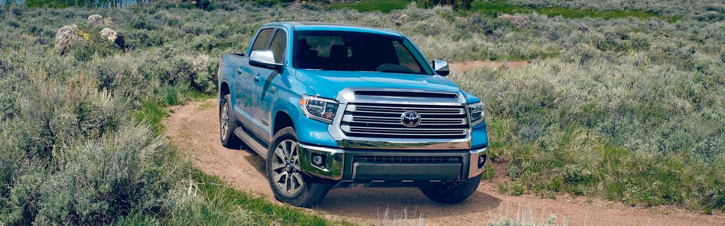 2020 Toyota Tundra driving on a dirt road