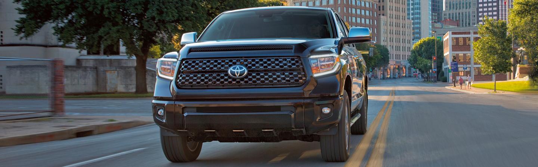 2020 Toyota Tundra driving on a city street