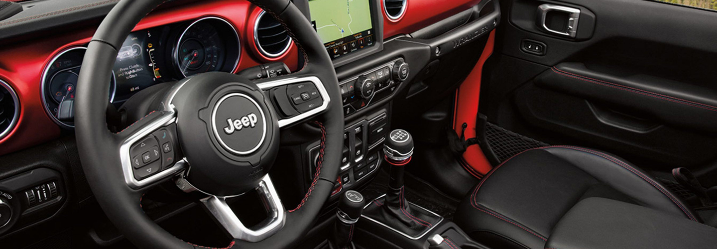 Interior of the 2020 Jeep Wrangler available at Naples, CDJR