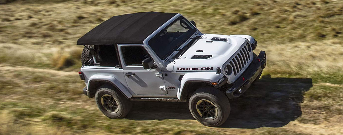 2019 Jeep Wrangler driving on the tril overhead view.