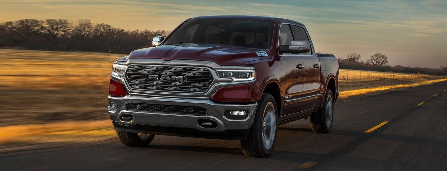 Side view of the 2020 RAM 1500 in motion