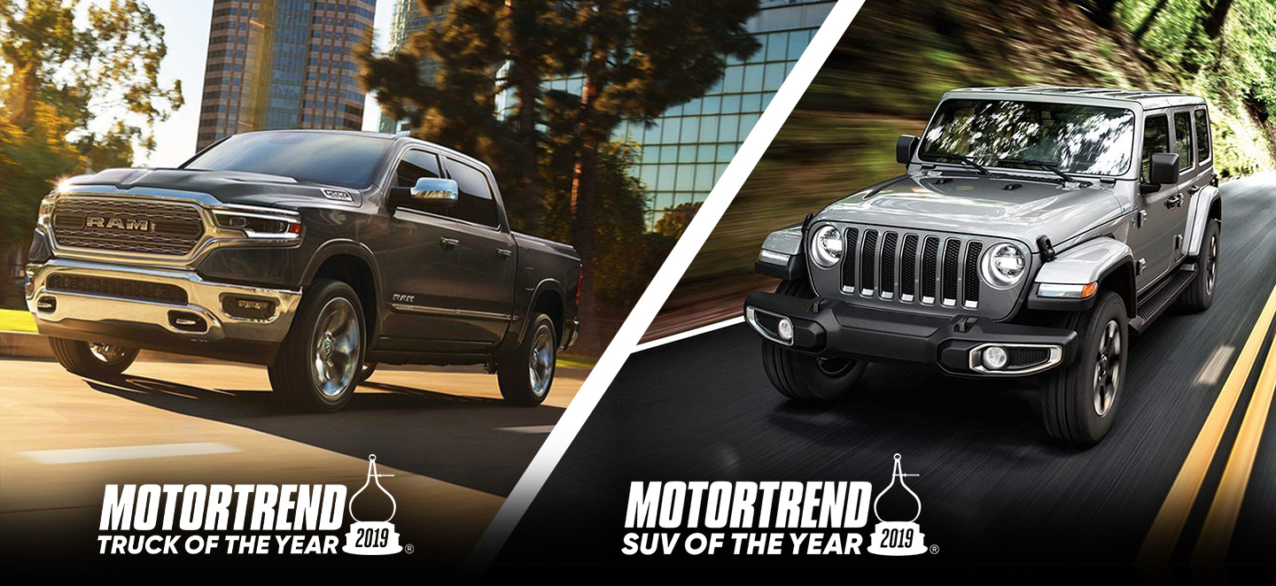 Motor Trend Award Winners: 2019 RAM 1500 & 2019 Jeep Wrangler is for sale at our dealership in Lake City.