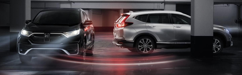 Two 2020 Honda CR-Vs in motion