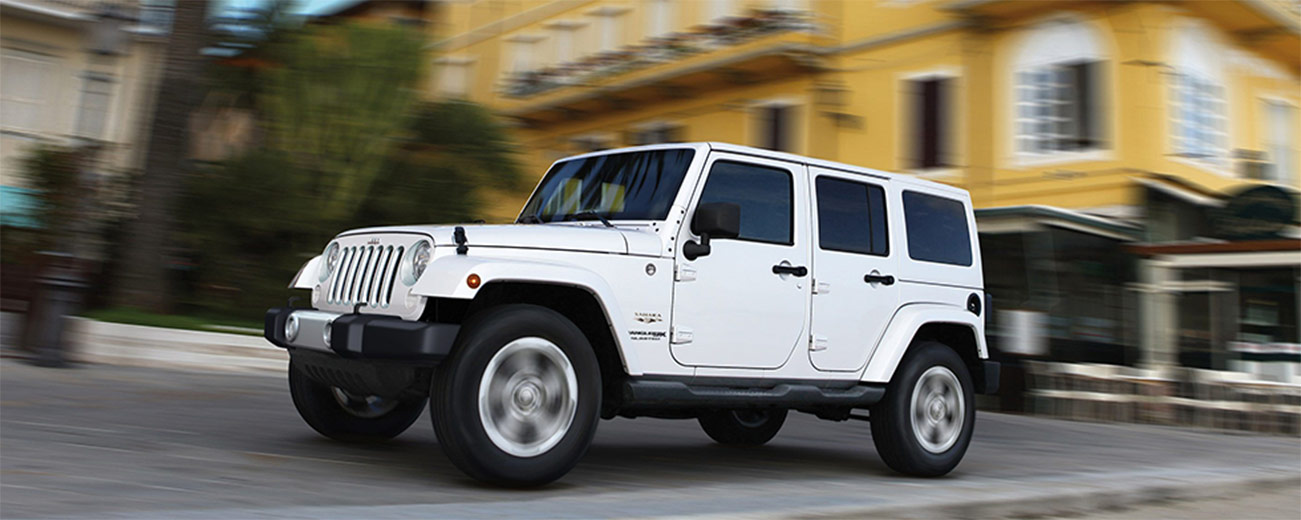 Jeep Wrangler driving