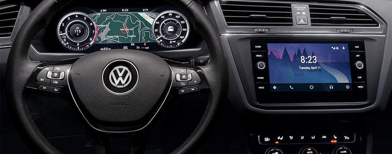 Safety features and interior of the 2019 Volkswagen Tiguan - available at our Volkswagen dealership near Fort Lauderdale, FL