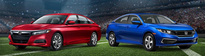 Honda's on football field