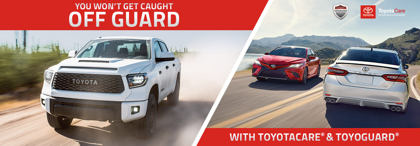 You won't get caught off guard with Toyotacare