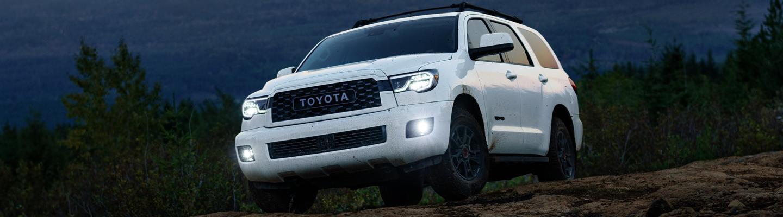 White 2020 Toyota Sequoia TRD Pro parked
