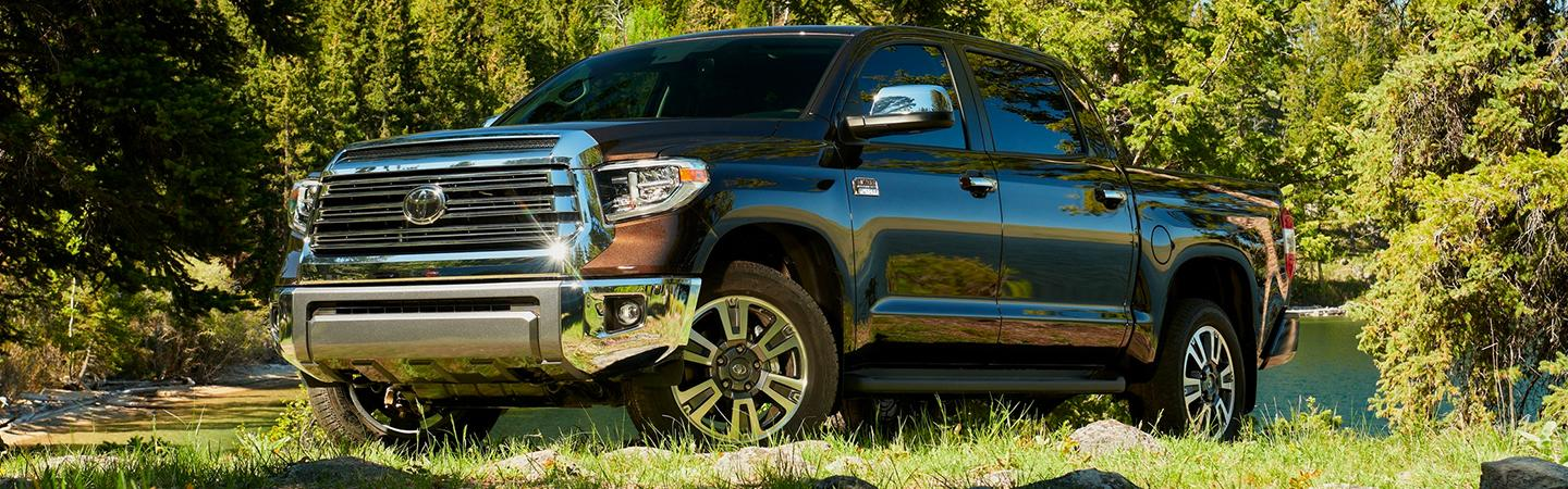 2020 Toyota Tundra parked on grass