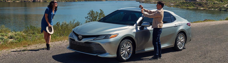 2020 Toyota Camry Hybrid vehicle parked