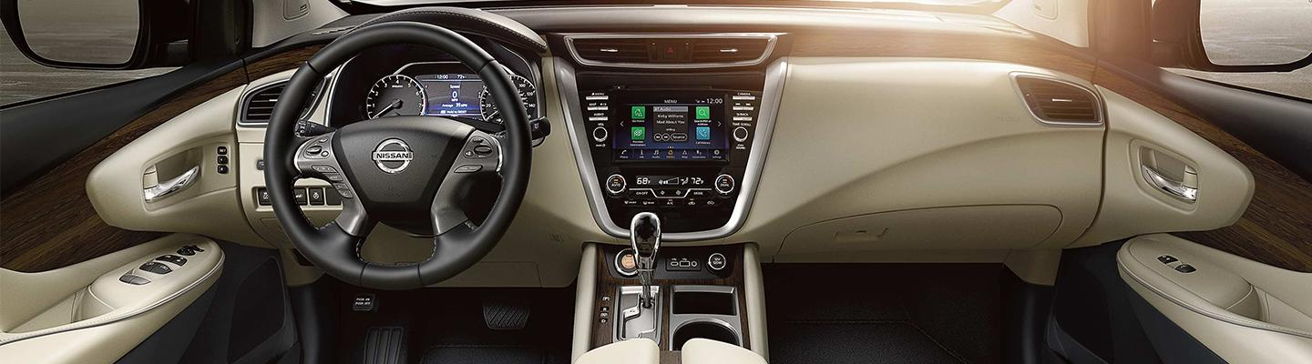 Interior of the 2020 Nissan Murano