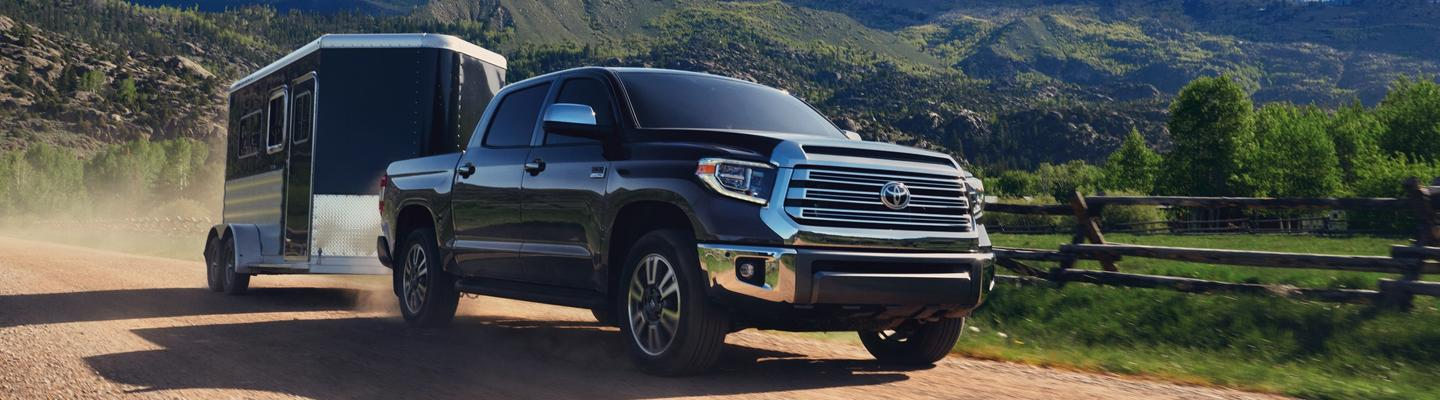 2020 Toyota Tundra towing a trailer