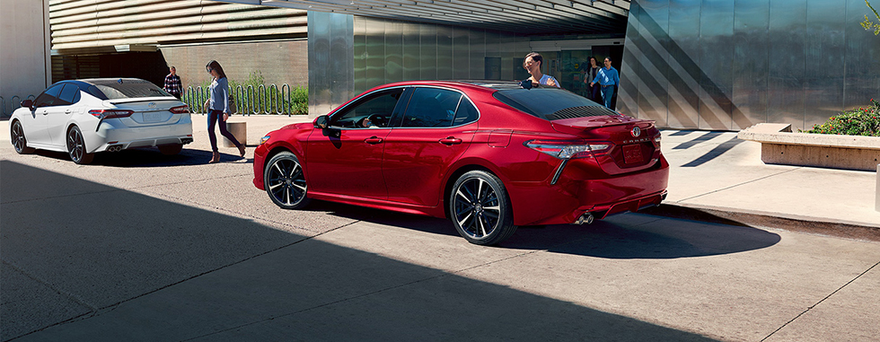 Exterior of the 2019 Toyota Camry for sale at our Toyota dealership in Lake City