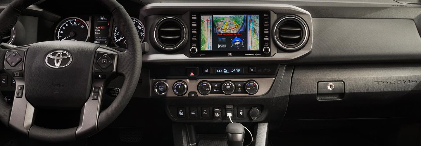 Interior view of the Toyota Tacoma
