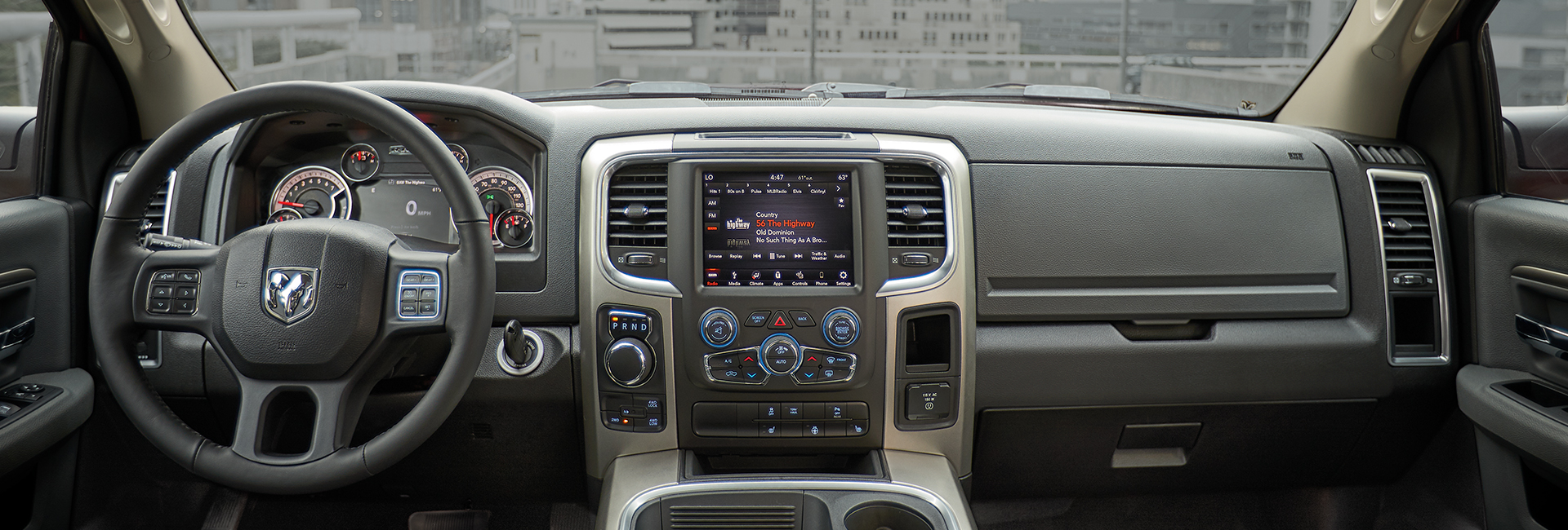 Interior features in the 2021 RAM 1500 in Mansfield, OH