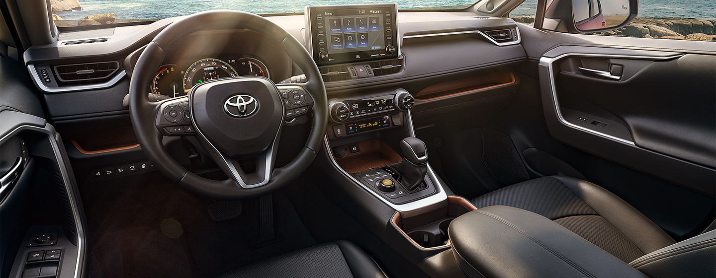 Safety features and interior of the 2019 Toyota RAV4 - available at our Toyota dealership in Tampa, FL