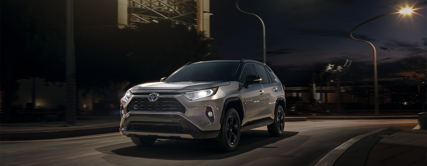 2019 Toyota RAV4 at night