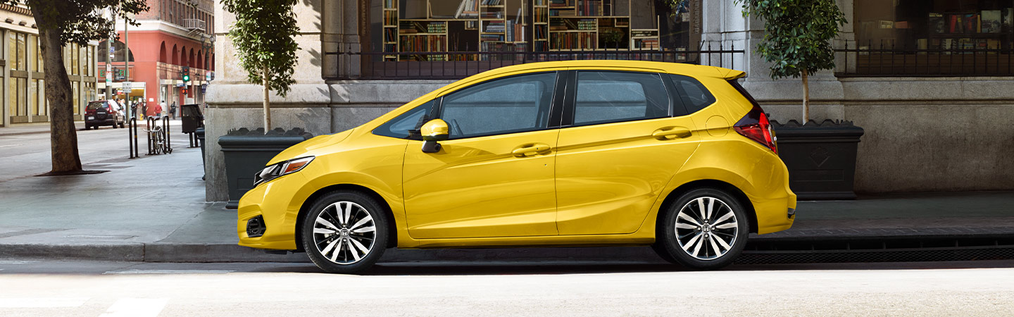 Side image of the 2019 Honda Fit available at our Honda Dealer in Miami, FL
