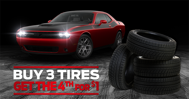 Buy 3 Tires & Get The 4th One For Just $1!